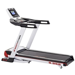 Smooth Fitness 8.35e Plus Laufband - Bluetooth Connect+ App Steuerung, 3.5 PS Motor, 50x150cm Lauffläche, Im-Pression ProTM Dämpfung, ViviClearTM Blue BackLit LCD Computer, Herzfrequenztraining -